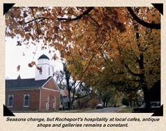 Rocheport Missouri historic district, fall foliage